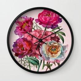 Flower garden V Wall Clock