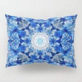 Aqua Crystal Mandala Pillow Sham