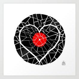 Broken Record , Broken Heart Art Print