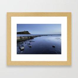 Blue hour at Kimmeridge Framed Art Print