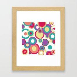 Colorful Circles Framed Art Print