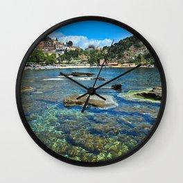 Taormina, Sicily I Wall Clock