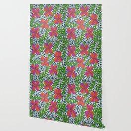 Jungle Rain Flowers Wallpaper