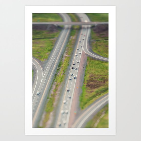 Shifted Highway Art Print