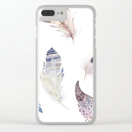 Trial feathers pattern Clear iPhone Case