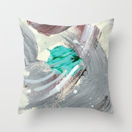 Snowy Walk in the Woods 03 Throw Pillow