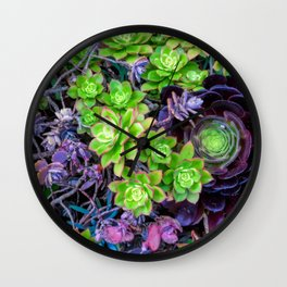 Green Fantasy by Lika Ramati Wall Clock