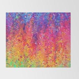 Fluoro Rain Throw Blanket