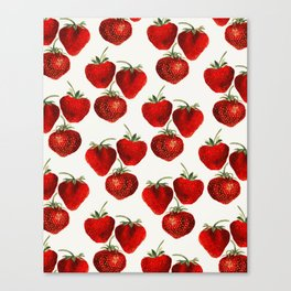 Strawberries Pattern Canvas Print