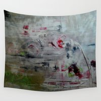 imagerybydianna Wall Tapestries featuring orchid mist by Imagery by dianna