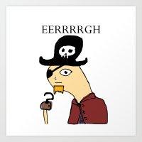 Dilbet Pirate Art Print
