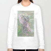 birdman Long Sleeve T-shirts featuring blackdeath birdman by melissa E