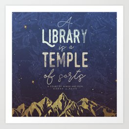 Library Temple Art Print