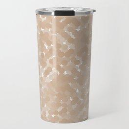 Hazelnut Polka Dot Bubbles Travel Mug