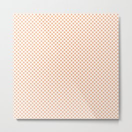 Peach Cobbler Polka Dots Metal Print