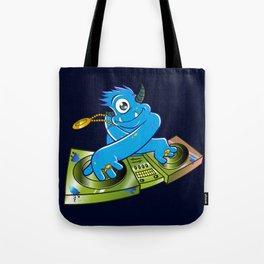 Blue monster dj hip hop Tote Bag