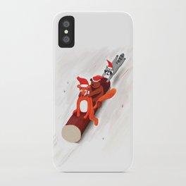 Christmas fox, bear and raccoon iPhone Case