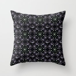 Detailed Flower Vector Pattern Throw Pillow