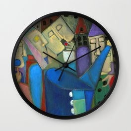 the jugglers city Wall Clock