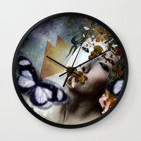 michael scott Wall Clocks featuring Michael by DIVIDUS