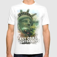 East Coast Sightseeing Mens Fitted Tee MEDIUM White