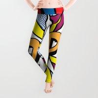 pop art Leggings featuring POP Art #4 by Gary Grayson
