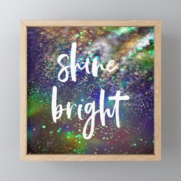 Shine bright glitter background Framed Mini Art Print