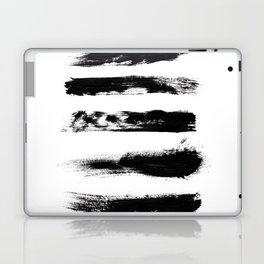 Abstract Black Brushstrokes Laptop & iPad Skin