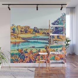 Garden Stroll #painting #nature Wall Mural