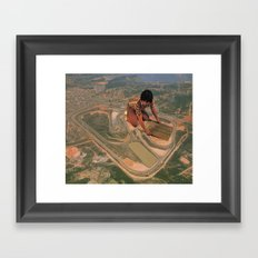 Interlagos Racetrack Framed Art Print