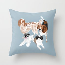 Barclay, Rhett, Ozzie and Gus Throw Pillow