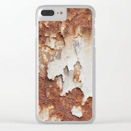 Rust II Clear iPhone Case