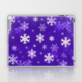 Light Purple Snowflakes Laptop & iPad Skin