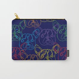 Overlapping Rainbow Frenchies Carry-All Pouch