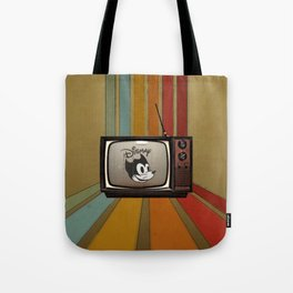 fallout Dismay cartoon on vintage tv Tote Bag