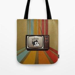 fallout Dismay cartoon on vintage tv Tote Bag