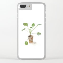Pilea. Chinese money plant. Clear iPhone Case