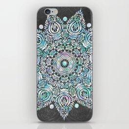 Mermaid Mandala on Deep Gray iPhone Skin
