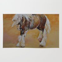 pony Area & Throw Rugs featuring Gypsy Pony by Michael Creese