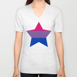 Bi* Pride Star Unisex V-Neck