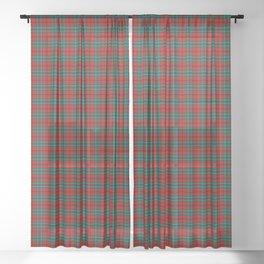 Cook Tartan Plaid Sheer Curtain