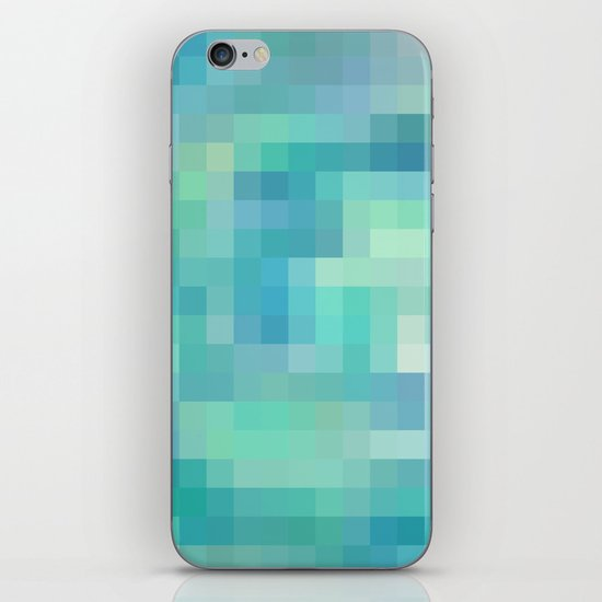 Re-Created Colored Squares No. 17 by Robert S. Lee iPhone & iPod Skin