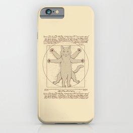 Vitruvian Cat iPhone Case