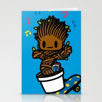 groot Stationery Cards featuring groot groot groot.... by Ziqi