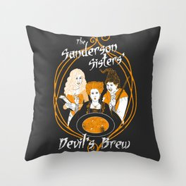 The Sanderson Sisters' Devil's Brew Throw Pillow
