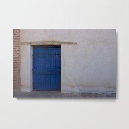 The old blue door Metal Print