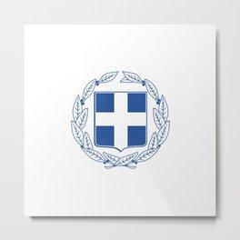 Coast of arms of Greece Metal Print