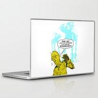 c3po Laptop & iPad Skins featuring C3PO Retro by luis pippi