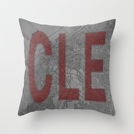 HOME IS CLE Throw Pillow