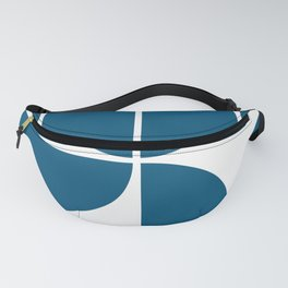 Mid Century Modern Blue Square Fanny Pack